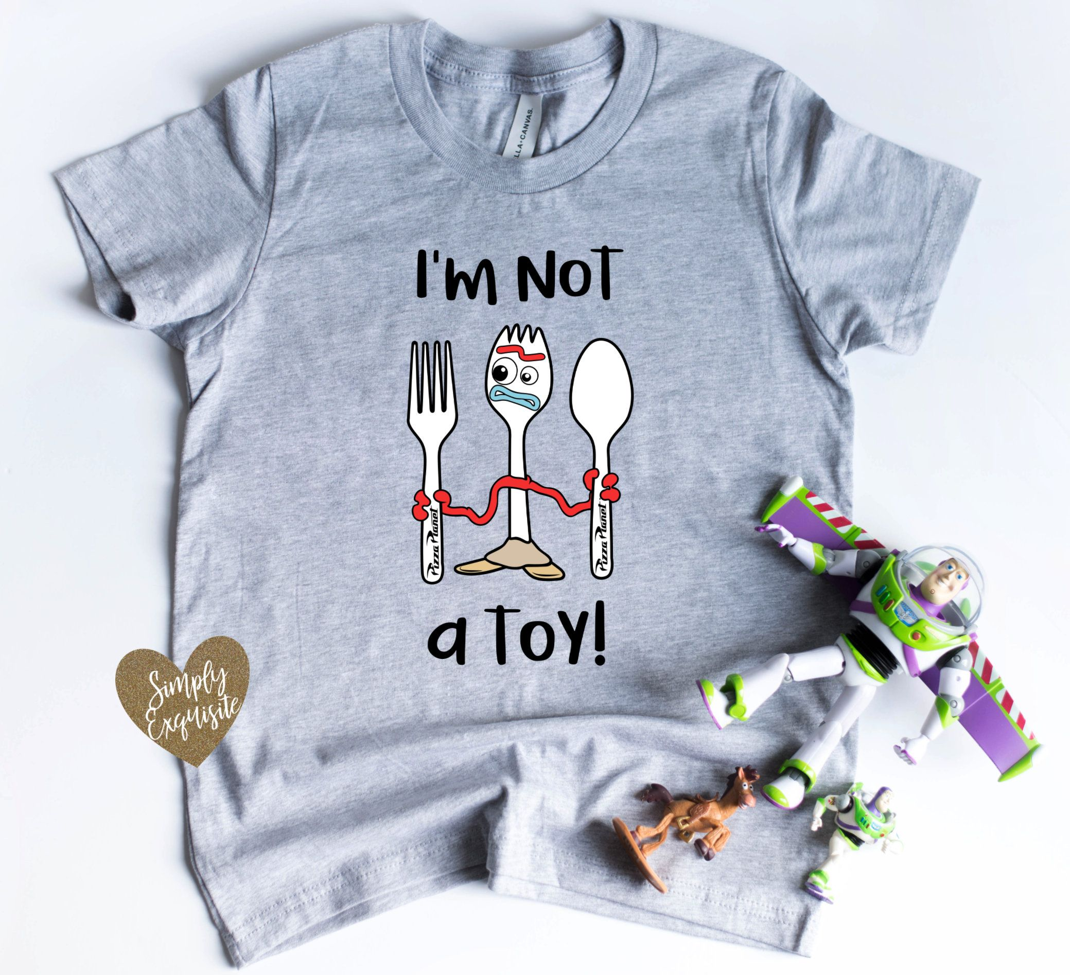 Toy Story Womens 4 Running Forky Racerback Tank Top