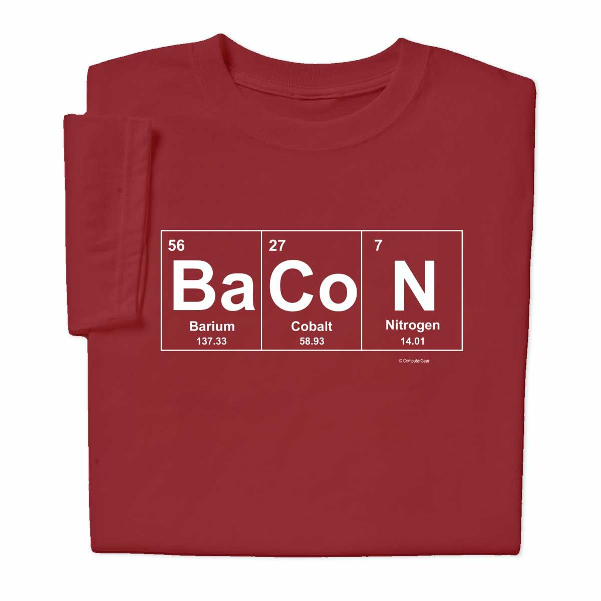 Bacon Elements Chemistry T Shirt Chemistry T Shirts Cute Valentines Day Gifts Element Chemistry