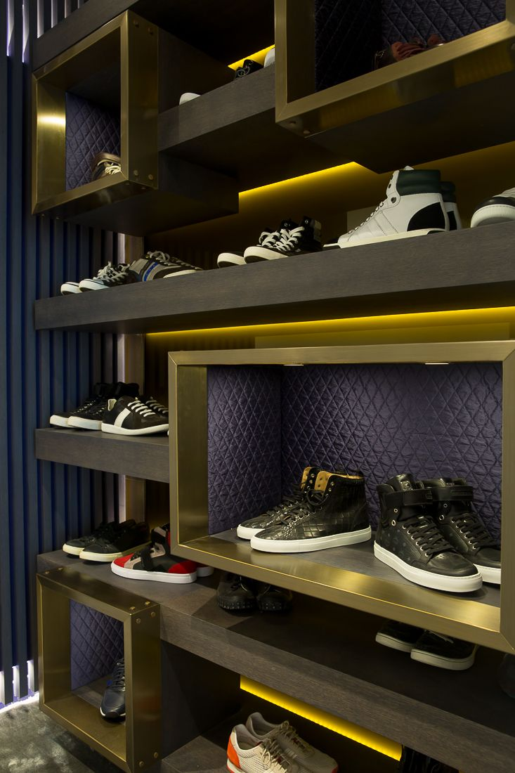 Bespoke Joinery Shoe Storage In Master Dressing Room