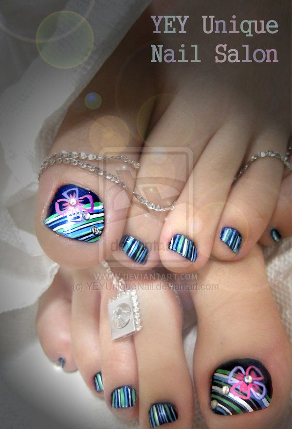 Toe Nails Design Projects To Try Pinterest Rhinestone Nail