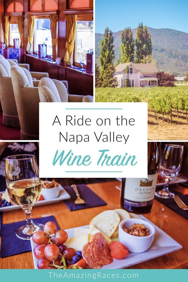 The Napa Valley Wine Train is a fun activity to do in Napa See what to expect when planning a ride on the wine train in Napa Save this pin to your board for later