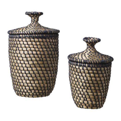ÅSUNDEN Basket with lid set of 2, dark grey $16.99 Bathroom?	  					  					undefined - undefined  or while supplies last
