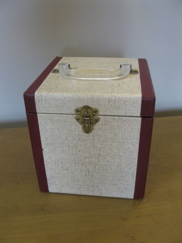 Vintage Record Box 45 Rpm Record Holder Record Case Storage Etsy Record Boxes Vinyl Record Box Record Case