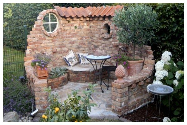 Photo of Amazing ideas with stone gazebo without a roof