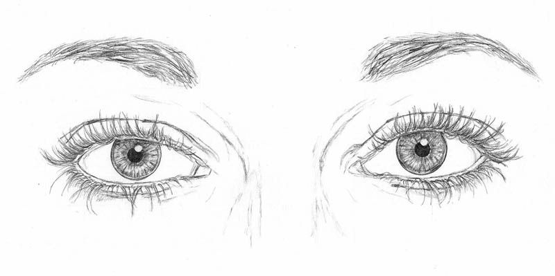 Line Art Eyes : How to draw those tricky faces with some simple tips let