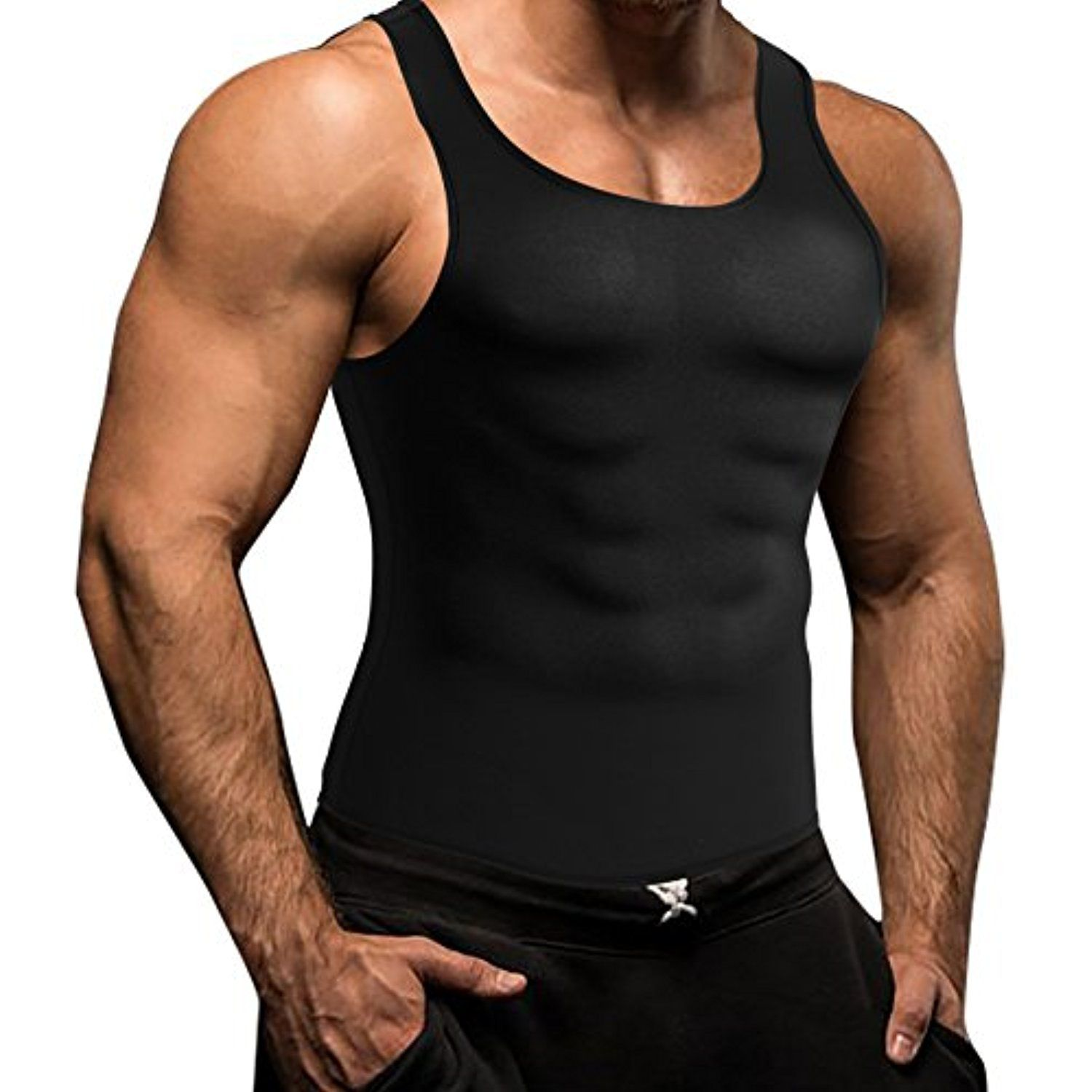 7eb4469a92 Men Waist Trainer Corset Sweat Vest Body Shaper Neoprene Jacket Shirt  Workout Training Mens Cincher Tank Top For Weight Loss    You can find more  details by ...