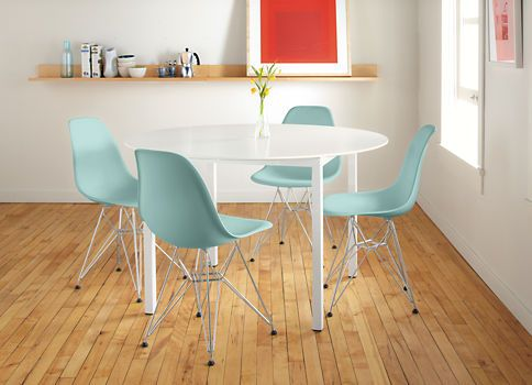 Eames 174 Molded Plastic Chairs With Wire Base Chairs