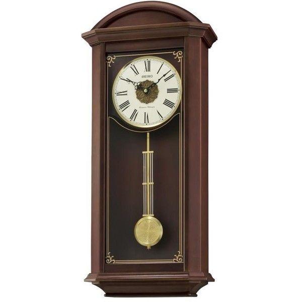 Seiko Clock Garamond Wall Clock Qxh065blh 12 145 Dop Liked On Polyvore Featuring Home Home Decor Clocks Bat Wall Clock Classic Cream Wall Clocks Clock