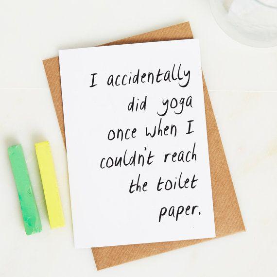 Accidentally Did Yoga Card