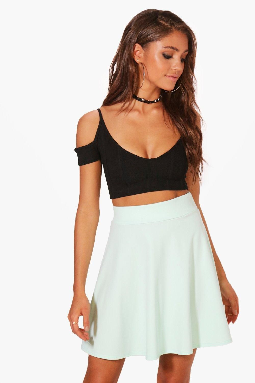 5b110b0c55c0b Click here to find out about the Tamsin Fit & Flare Highwaist Mini Skirt  from Boohoo, part of our latest Going Out collection ready to shop online  today!