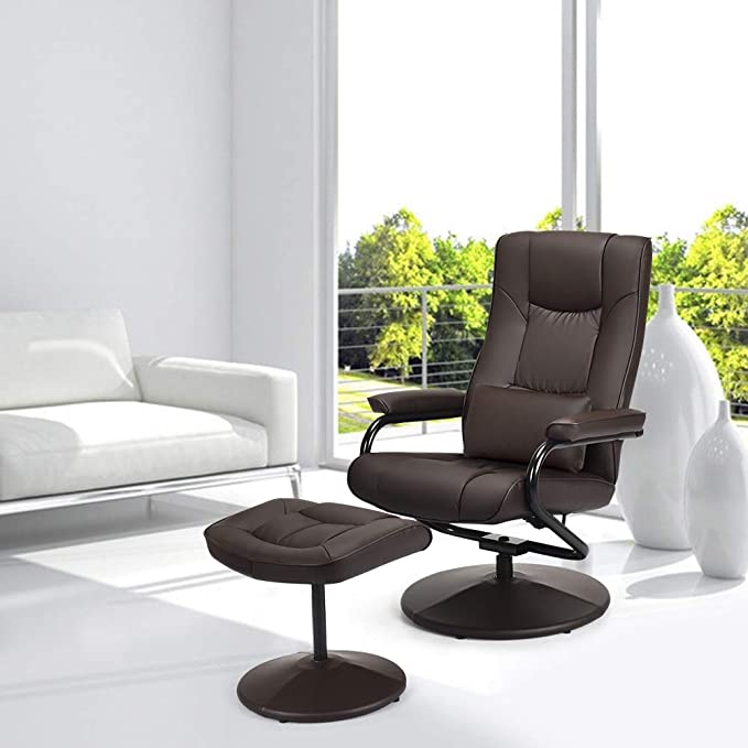 Swivel Recliner Chair, WaterJoy PU Leather