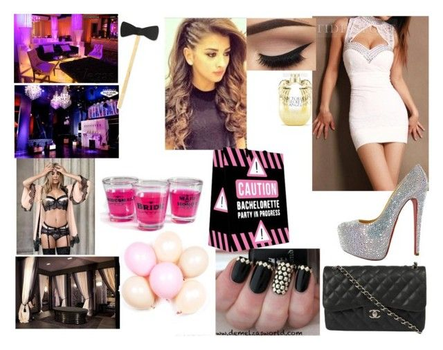 """Bachelorette party"" by cry-baby-089 ❤ liked on Polyvore featuring DKNY, Chanel, Victoria's Secret and MakersKit"