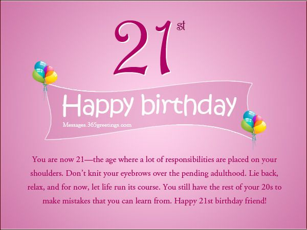 21st Birthday Wishes Messages And Greetings 365greetings Com Happy 21st Birthday Quotes 21st Birthday Quotes Happy 21st Birthday Wishes