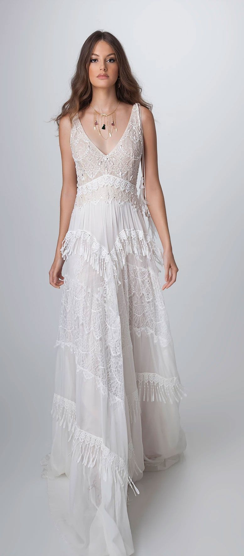 Boho chic wedding dresses with playful details boho chic