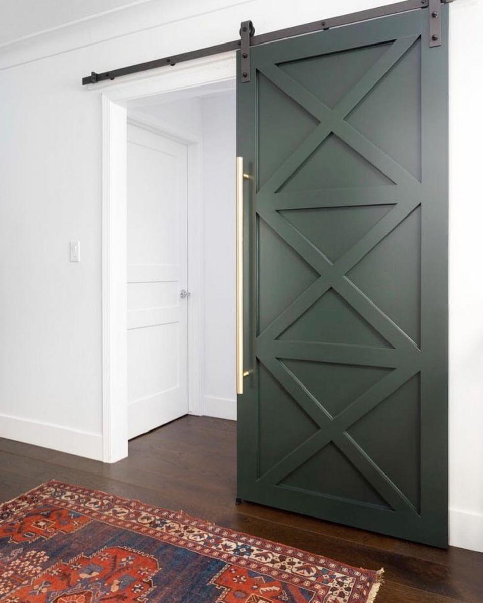 10 Splashy Colors To Paint An Interior Door Interior Barn Doors Interior Barn Door Designs Modern Barn Door