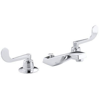 Kohler Triton  Widespread Commercial Bathroom Sink Base Faucet with Pop-Up Drain and Rigid Cross Connections, Requires Handles