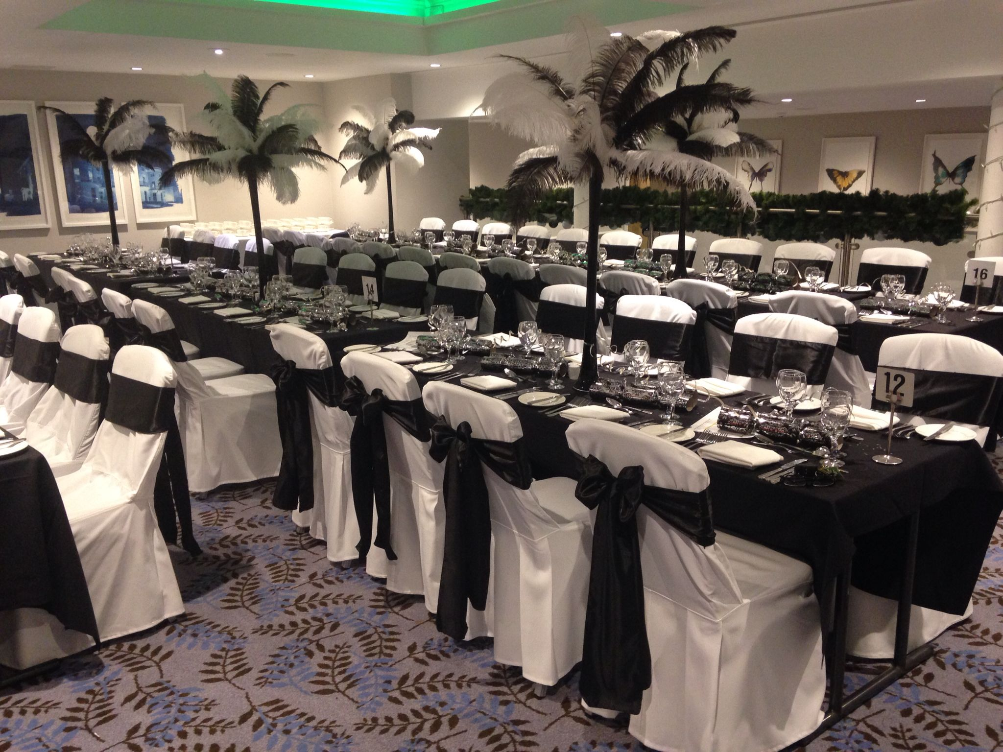 Chair Covers New Year Kettler Garden Years Eve White With Black Satin Sashes Bowden