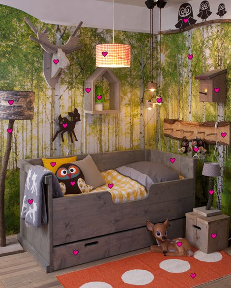 Unisex Kids Room Ideas: Wallpaper The Boo And The Boy: Eclectic Kids' Rooms