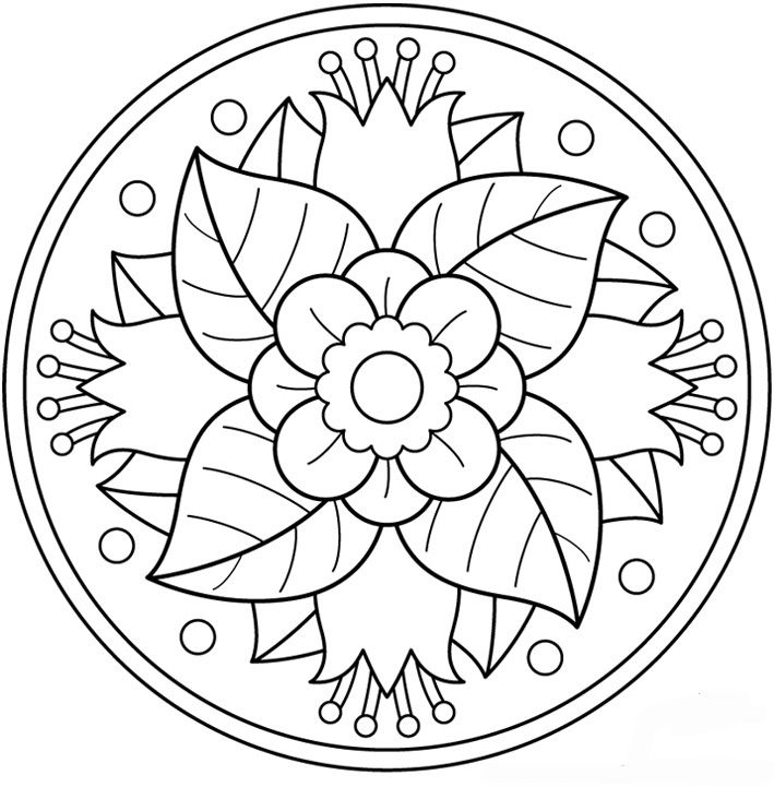 Photo With Images Mandala Coloring Pages