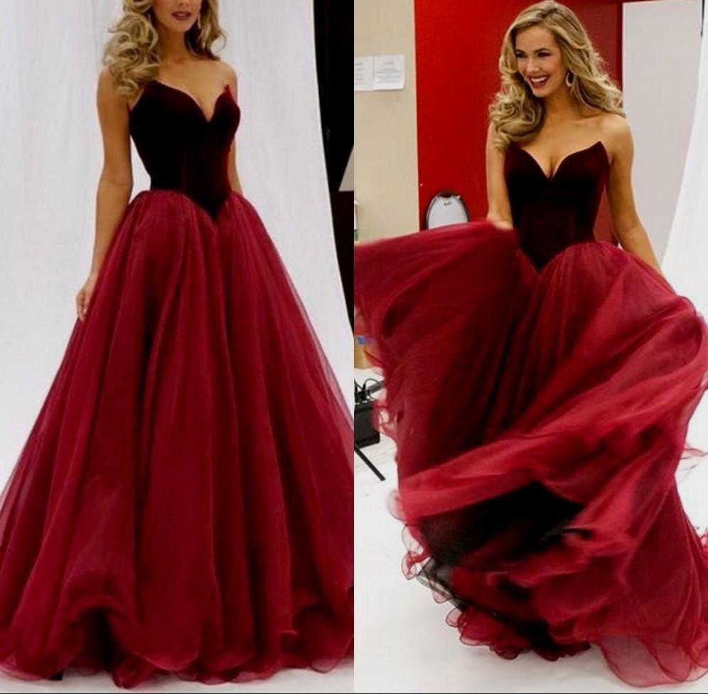 Sexy prom dresses vneck short train royal blue burgundy long velvet