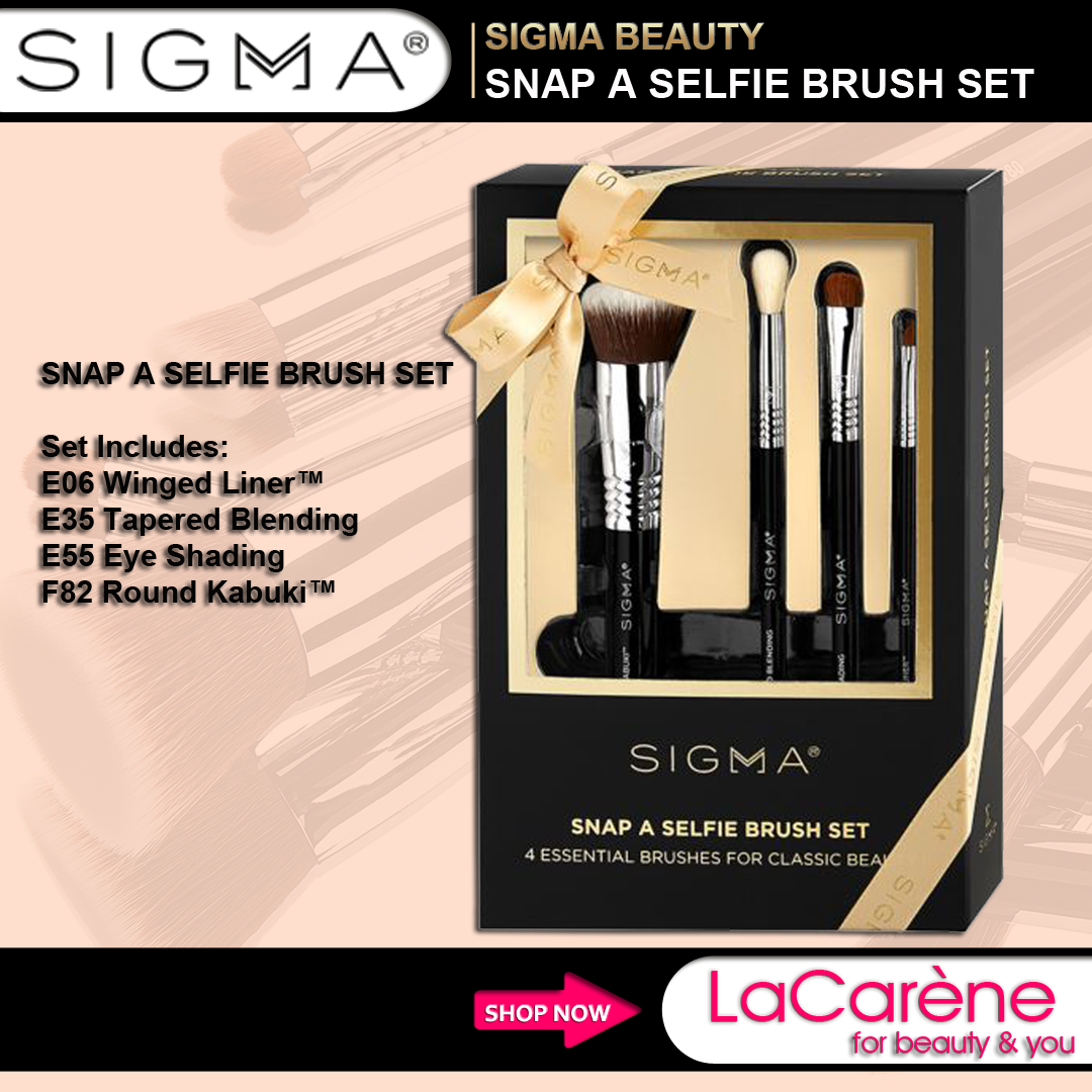 Sigma's Snap A Selfie Must Have Brush Set A gift set of 4
