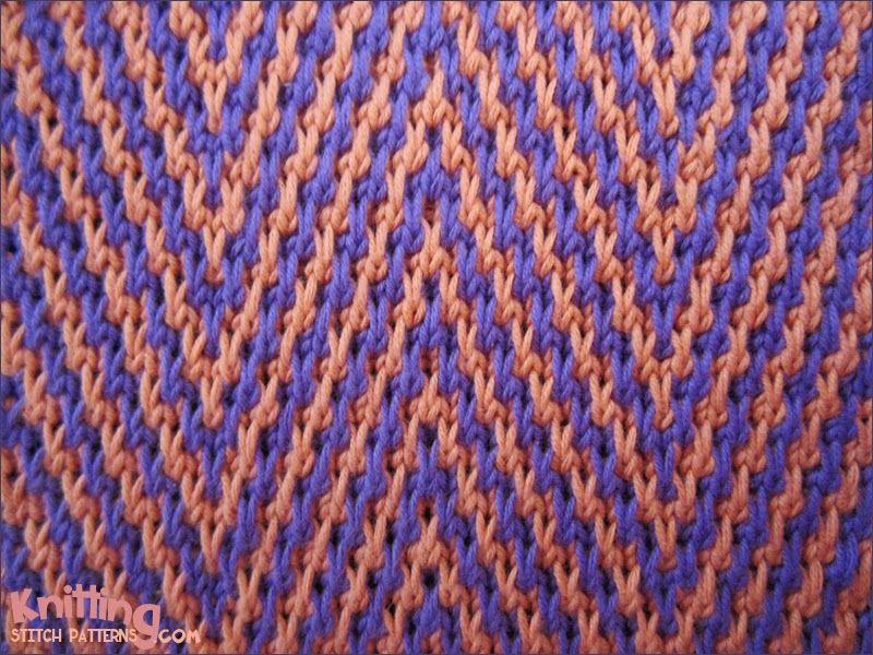 Chevron Zig Zag Knitting Pattern : Zigzag chevron stitches knitting stitch patterns
