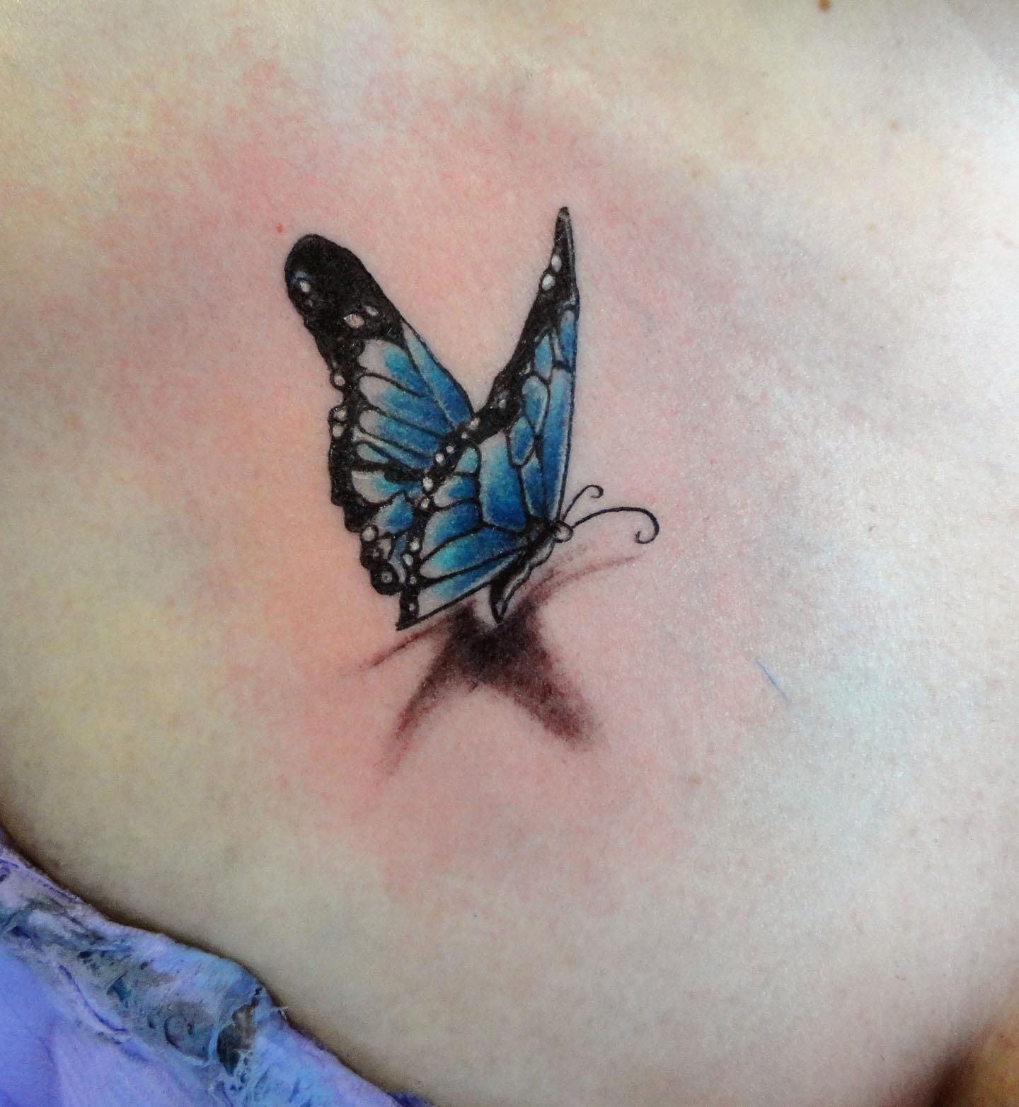 3D Butterfly ink tattoo 3d butterfly tattoo
