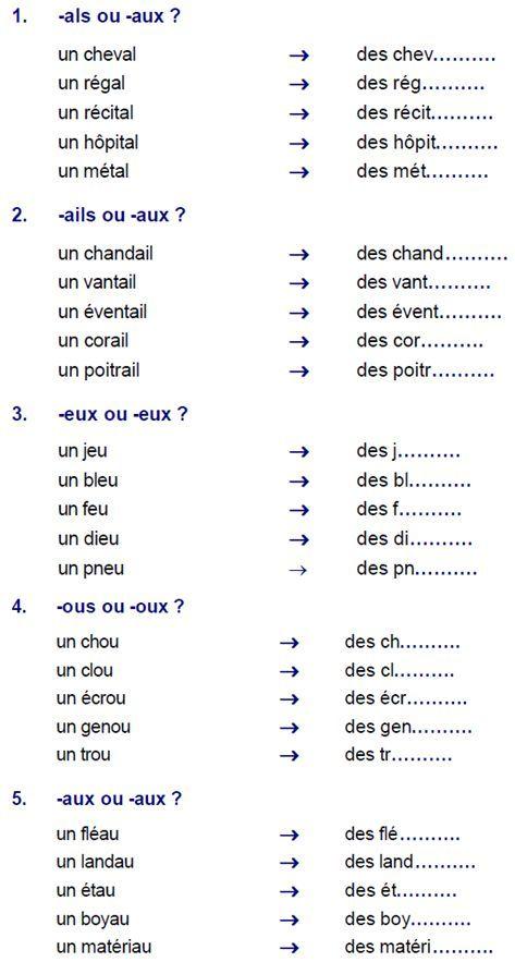 le pluriel des noms, exercice | Pluriel des noms, Orthographe cm1, Exercices orthographe