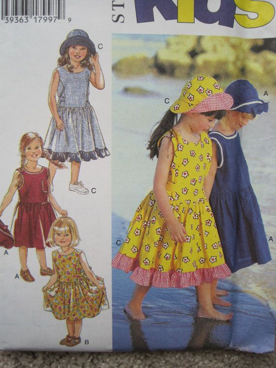 UNCUT Girls Dress and Hat  Size 3 to 8  Style by KendallsPatterns