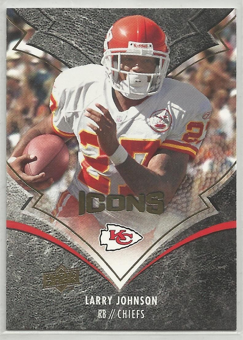 hot sale online 1fdea 4001c Larry Johnson 2008 Upper Deck Icons NFL Football Card 51 ...