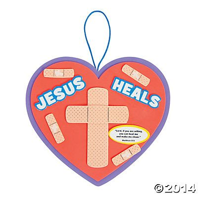 Jesus Heals Sign Craft Kit Bible School Crafts Bible Crafts For