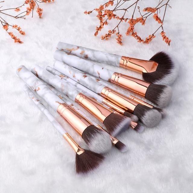 5 / 15Pcs Makeup Brushes Set – Sektor 10pcs Gold