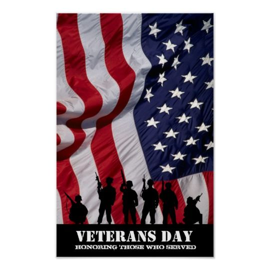 Honoring those who served. Veterans Day Poster   Zazzle.com