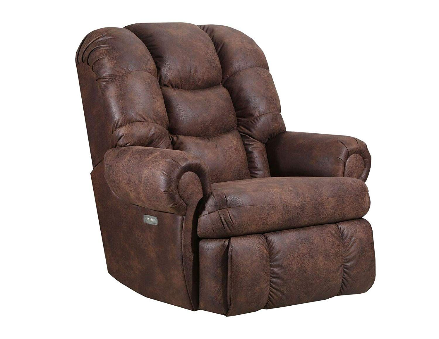 4501 Lane Stallion Big Man Comfort King Wallsaver Recliner In Dorado Walnut Made For The Big Guy Or Ga Rocker Recliners Wall Hugger Recliners Leather Recliner