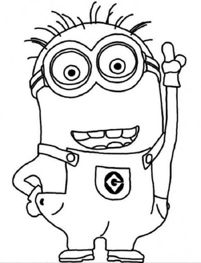simple minion coloring pages | coloring Pages | Pinterest ...