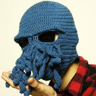 Encontrar Más Gorros de Lana Información acerca de 2014 nuevos de la  novedad hecha a mano de las lanas que hace punto divertido Barba pulpo  camionero tapas ... c0eaa23e2ae