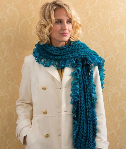 Vortex Scarf Free Crochet Pattern from Red Heart Yarns | New, New ...