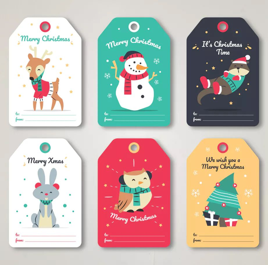Hand Drawn Christmas Cards Collection By Eightonesixstudios On Envato Elements Hand Drawn Christmas Cards Christmas Card Template Christmas Cards