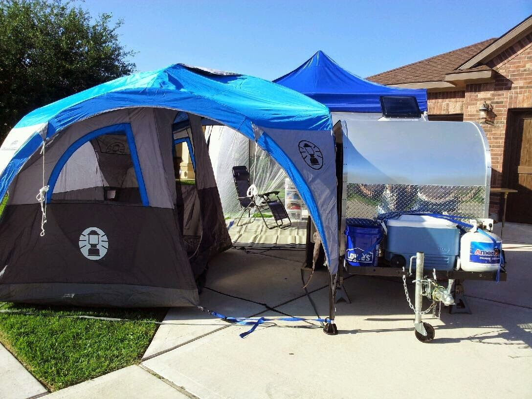 Coleman 2 For 1 All Day Dome Shelter With Teardrop