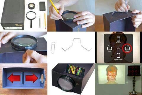 Diy Phone Projector Smartphone Projector Homemade Projector Diy Projector