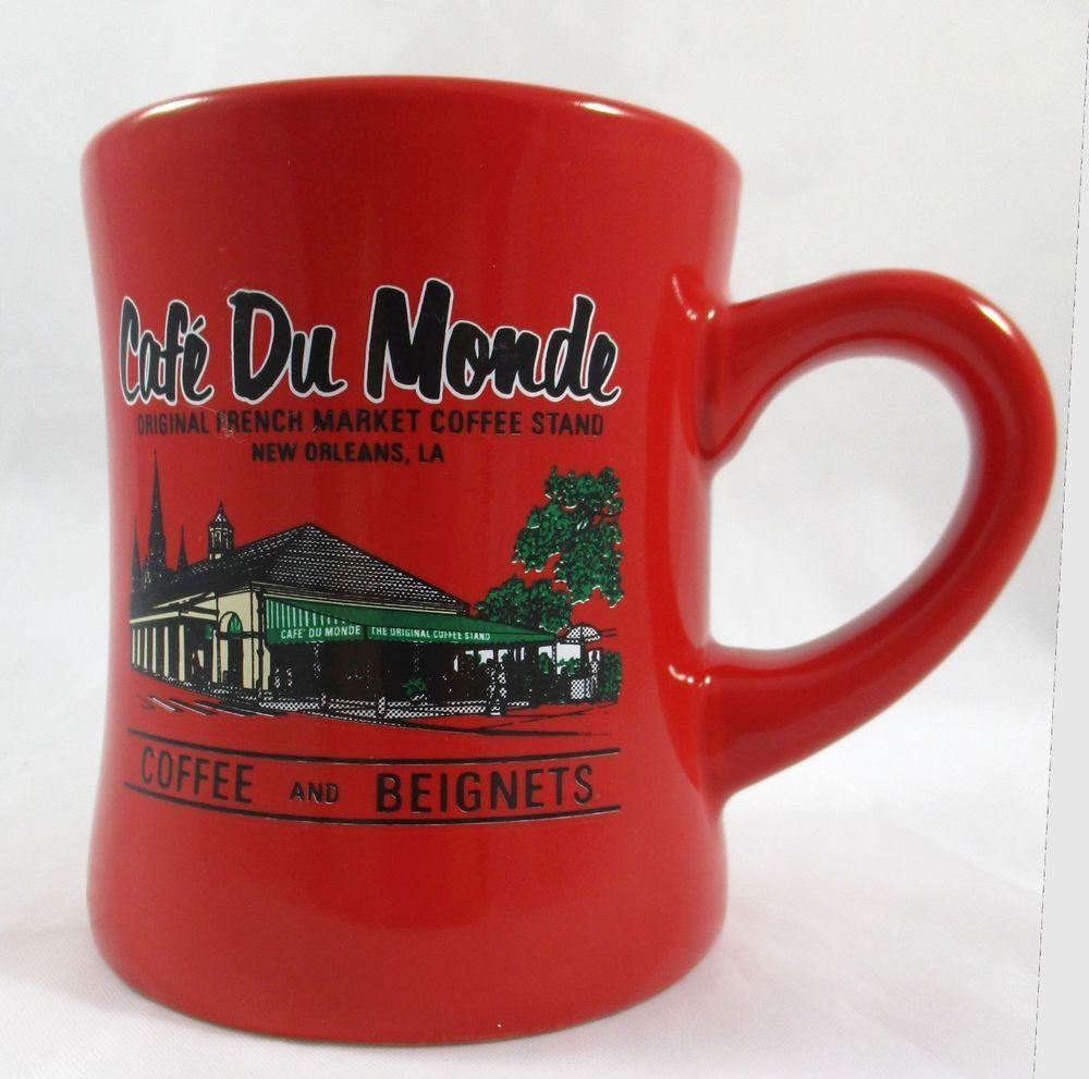 Cafe Du Monde Red Diner Coffee Mug Cup French