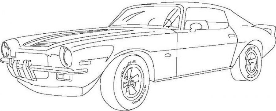 Classic Chevrolet Car Camaro American Muscle Coloring Sheet Letscolorit Com Cars Coloring Pages Race Car Coloring Pages Truck Coloring Pages