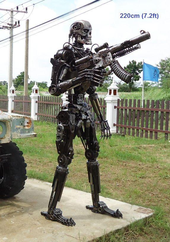 Terminator T 800 T 600 Figure Statue Sculpture Replica