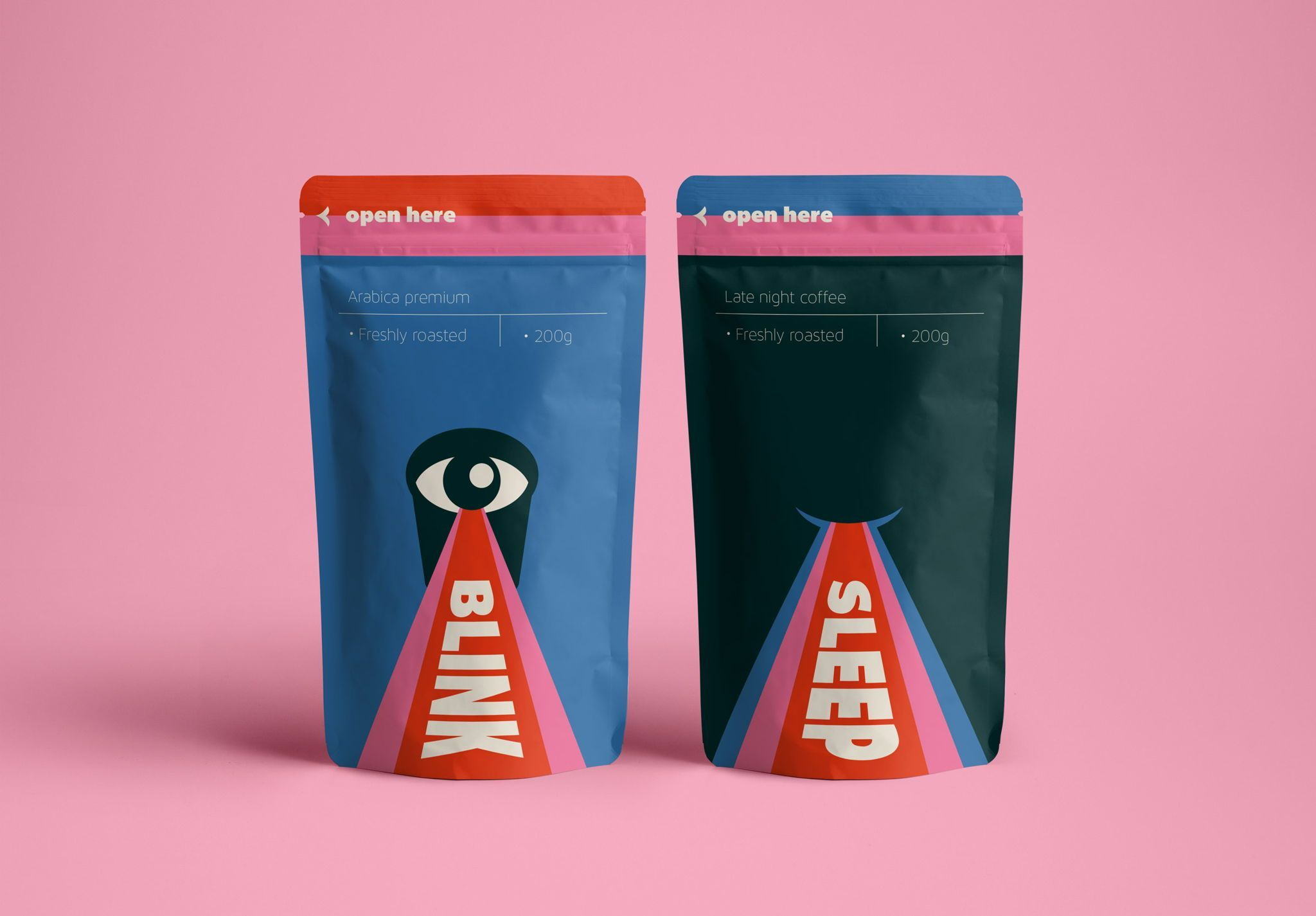 Blink Coffee packaging representing innovative packaging strategies.
