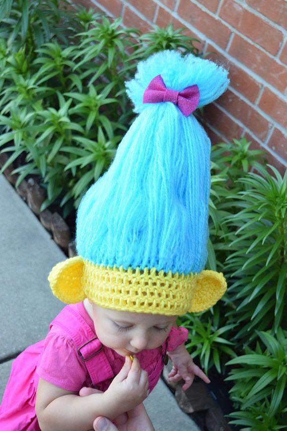 Trolls hat, Trolls hair, Smidge Trolls Hat | Gorros, Tejido y Para bebes