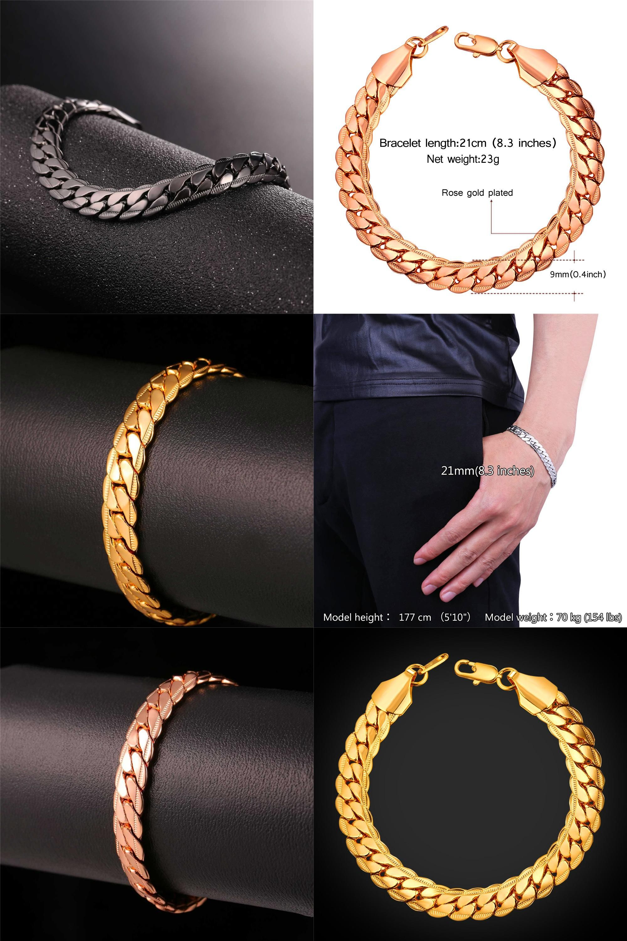 curb chain stainless on steel inch beveled over watches product shipping bangles gold overstock orders jewelry free bangle bracelet crucible