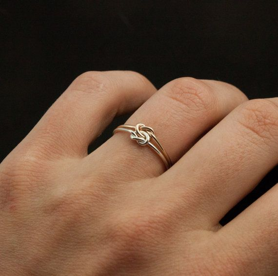lovely idea for an unconventional wedding ring Silver and Gold