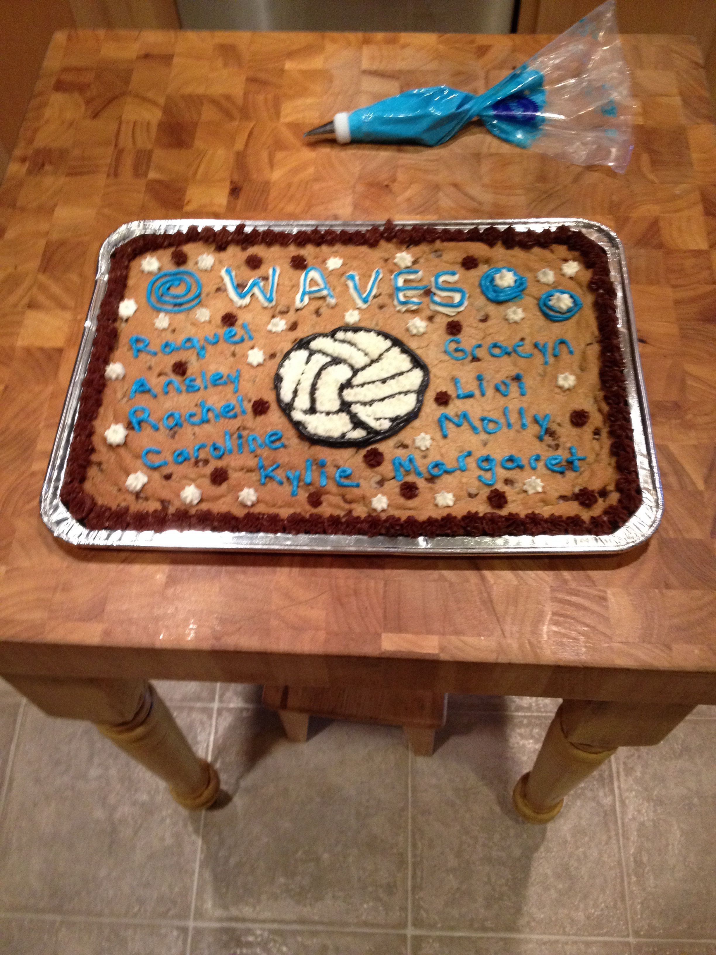 Volleyball Cookie Cake Chocolate Chip Cookie Cake Cookie Cake Volleyball Cookies