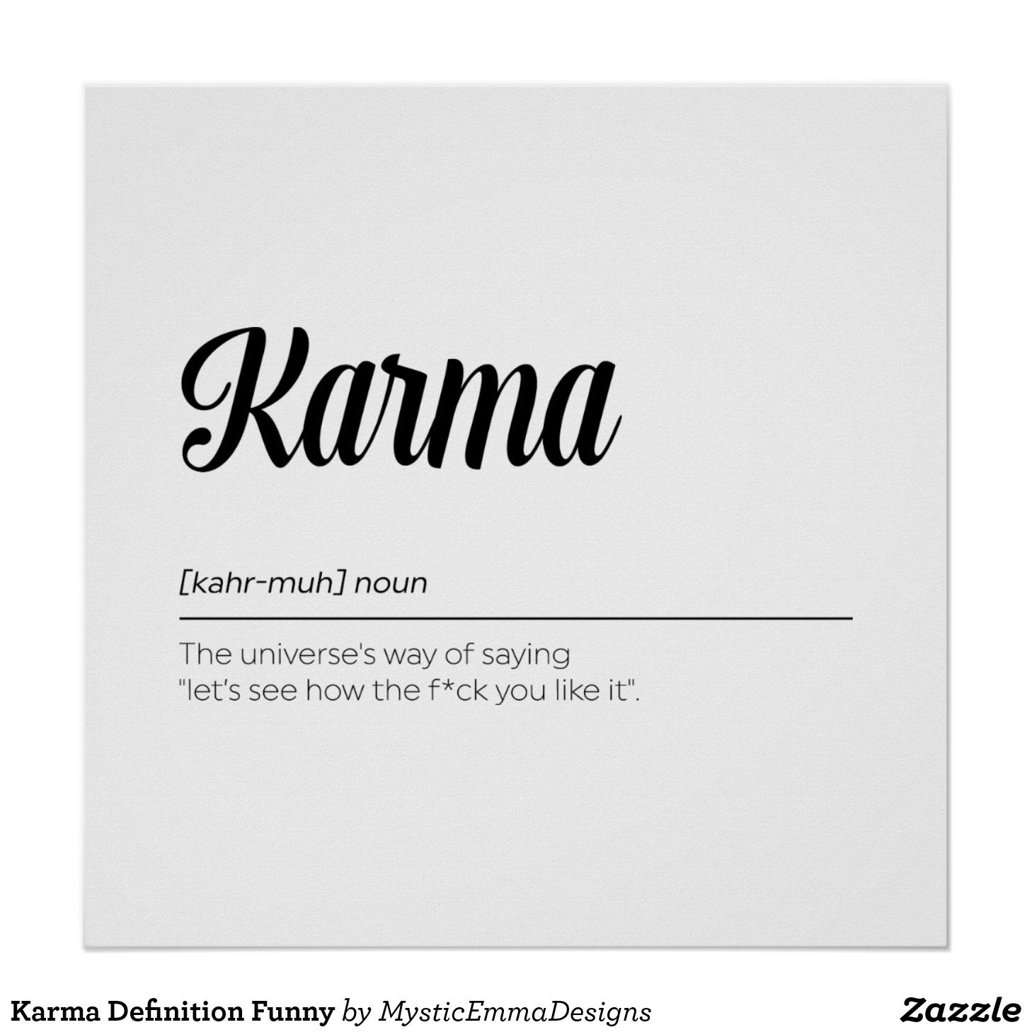 karma definition funny poster | printable | pinterest | quotes