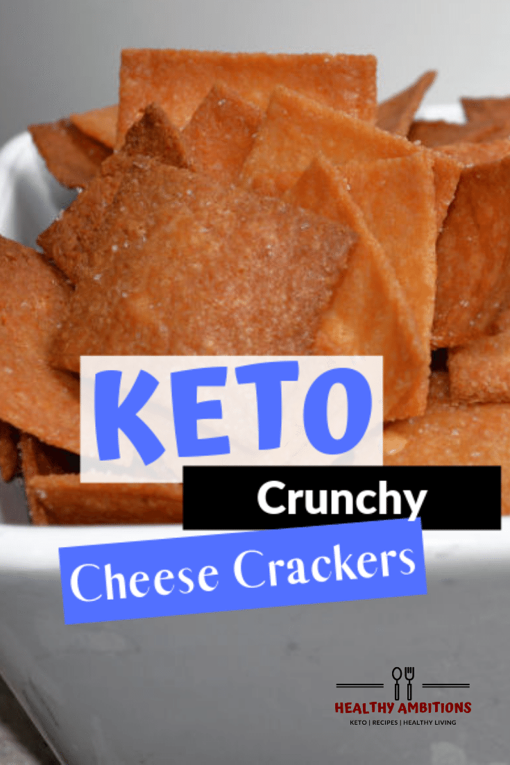 Keto Crunchy Cheese Crackers – A Cheezits Copycat Recipe